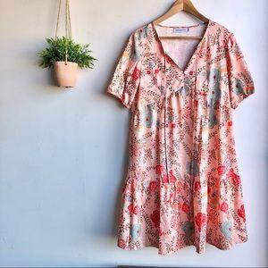 MISSLOOK Floral Tiered Dress